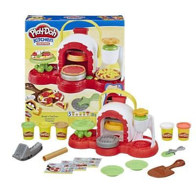 美国 PlayDoh/培乐多 创意厨房系列神奇披萨烤箱套装E4576儿童彩泥DIY玩具