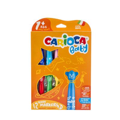 意大利 Carioca/快乐画 宝宝特制造型水彩笔12色 安全环保