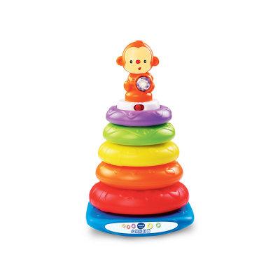 VTech伟易达电子教育玩具小猴彩虹圈叠叠圈层层叠音乐套圈宝宝早教益智玩具6-36个月