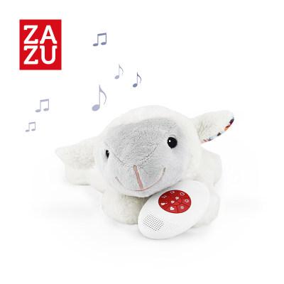 荷兰 ZAZU 毛绒音乐玩具新生宝宝睡眠安抚小夜灯可爱动物造型哭声传感