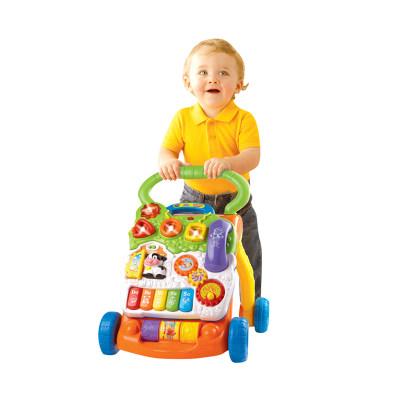 VTech伟易达电子教育玩具多功能学步车婴儿手推车宝宝助步车多功能推拉玩具6-30个月
