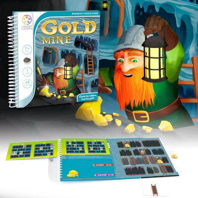 比利时 Smart Games淘金矿工 儿童益智桌游玩具 规划力逻辑思维 7+(磁力旅行系列)