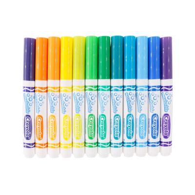 美国 Crayola/绘儿乐 24色粗杆可水洗水彩笔 儿童画笔 绘画工具