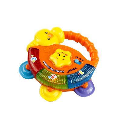 VTech伟易达电子教育玩具音乐手摇铃手铃鼓婴儿玩具宝宝学抓握玩具新生儿玩具3个月+