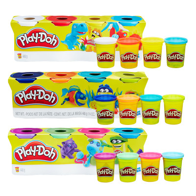 培乐多彩色橡皮泥粘土彩虹8色八色幼儿园男女孩手工制作玩具无毒
