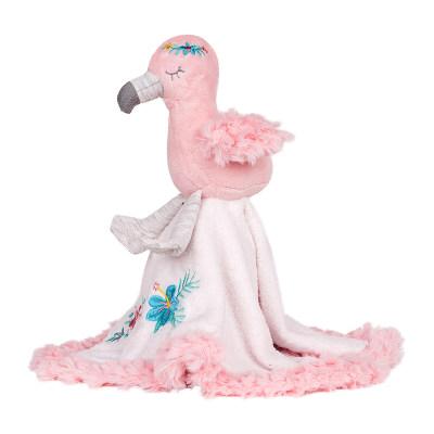 美国 Wubbanub 弗朗西丝卡火烈鸟口水巾 咬咬乐婴儿 安抚玩具防吃手