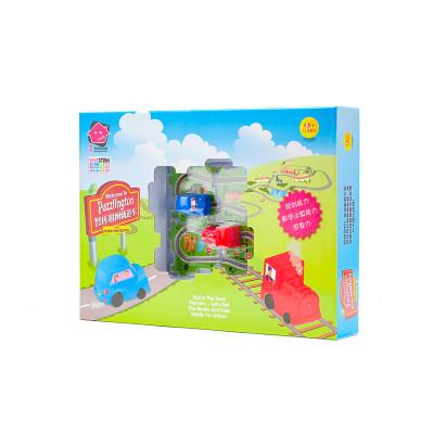 智库 儿童益智拼装玩具3-6周岁男女小孩智力游戏立体拼图轨道车