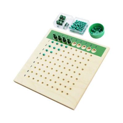 美国 MontessoriOutlet/蒙特梭利 数学区 除法板/除法练习表/除法方程式练习套装 儿童教具