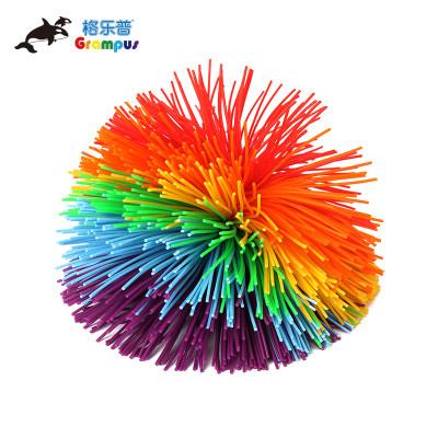 台湾格乐普大号混色橡筋球