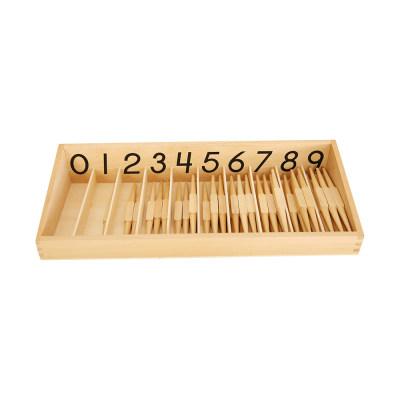 美国 MontessoriOutlet/蒙特梭利 数学区 木梭盒套装(正体)学习计数 儿童教具