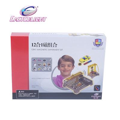 香港 eastcolight/怡高 12合1磁组合学生实验儿童益智玩具男孩磁力拼装