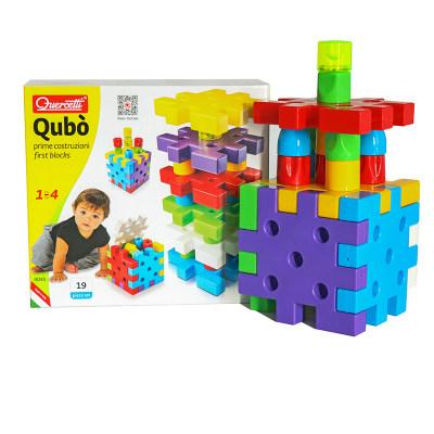 意大利启迪Quercetti巨手软螺钉高级版儿童早教积木益智玩具123岁