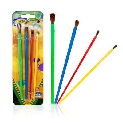 美国 Crayola/绘儿乐 画刷4支装/5支装 美术颜料绘画玩具 涂色工具涂鸦笔
