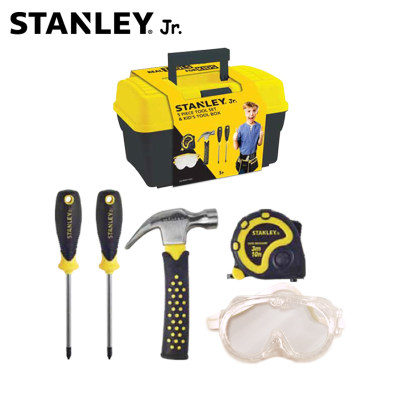美国 Stanley/史丹利 工具箱 工具套装(5件)儿童工具