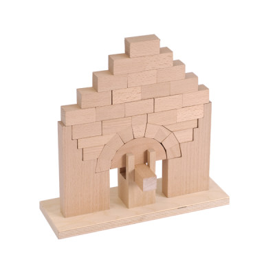 美国 MontessoriOutlet/蒙特梭利 操作区 罗马门积木 搭建玩具