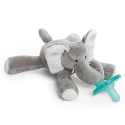 美国 Wubbanub 灰色小象 毛绒安抚奶嘴