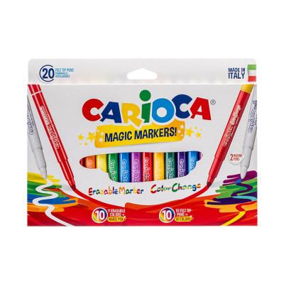 意大利 Carioca/快乐画 魔法水彩笔18色+2变色+消色 安全环保