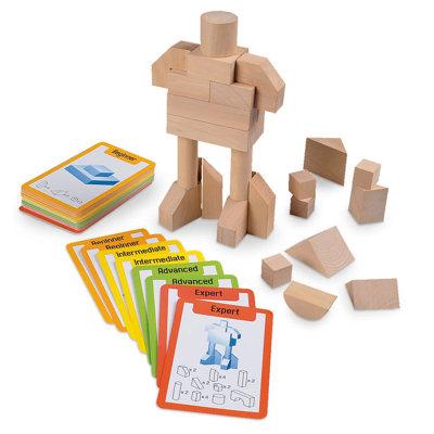 智库 儿童玩具 3-6周岁男孩女孩创意益智拼插积木小小建筑师