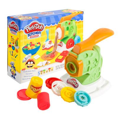 培乐多彩泥无毒儿童diy橡皮泥玩具创意厨房妙趣面条机套装B9013