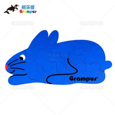 台湾格乐普兔子小猪拼图