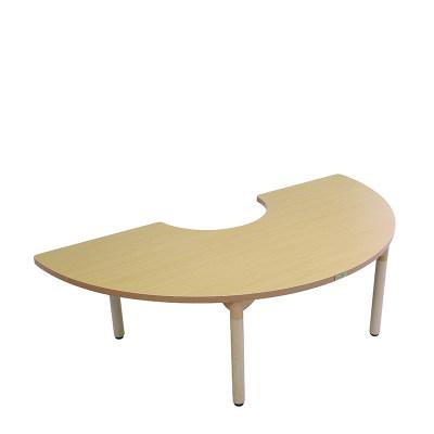 Kohburg/科宝 活动游戏 半月形桌(1930*965) 绘画学习木桌 餐桌 儿童家具