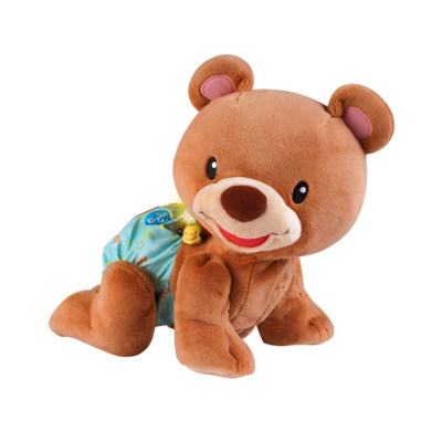 VTech伟易达电子教育玩具学爬布布熊宝宝爬行玩具婴儿电动爬娃带音乐6-24个月