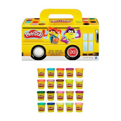 培乐多彩色橡皮泥无毒20色罐装儿童DIY手工制作玩具泥粘土A7924