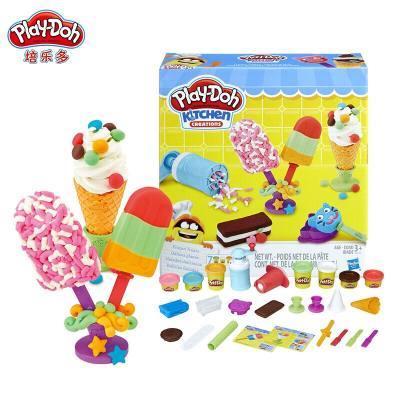 美国 PlayDoh/培乐多 创意厨房冰激凌甜点套装E0042 儿童手工橡皮泥玩具