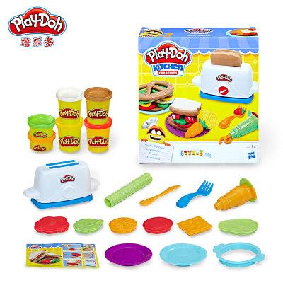 美国 PlayDoh/培乐多 彩泥创意厨房美味吐司套装E0039儿童手工橡皮泥玩具