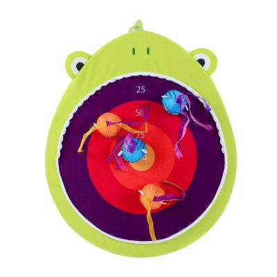美国 B.Toys/比乐搭扣飞靶大嘴鲨大嘴蛙儿童飞镖玩具魔术贴宝宝粘靶盘