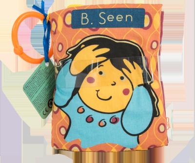 北美 B.Toys/比乐 躲猫猫布书听声音布书宝宝益智启蒙玩具听力视觉训练
