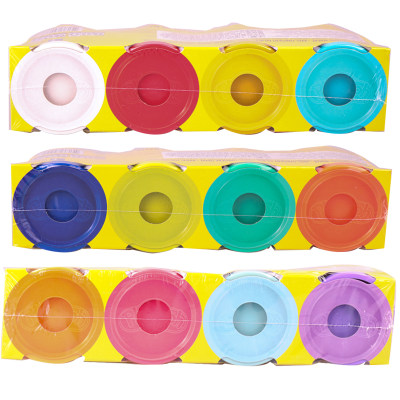 美国 PlayDoh/培乐多 彩泥补充装四色B5517儿童橡皮泥粘土手工玩具安全