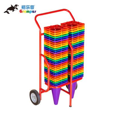 台湾格乐普收纳车双排标志桶收纳车
