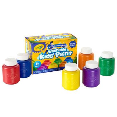 美国 Crayola/绘儿乐 6色2安士可水洗儿童顏料 手指画颜料