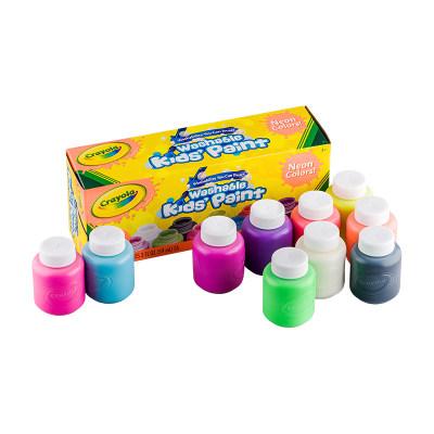 美国 Crayola/绘儿乐 10色2盎司可水洗儿童颜料-手指画颜料