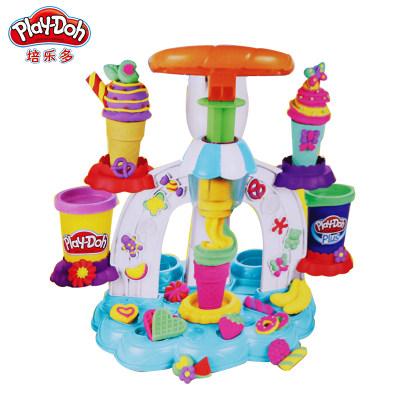 美国 PlayDoh/培乐多 彩泥冰激凌旋风组合B0306儿童橡皮泥创意手工创作DIY玩具
