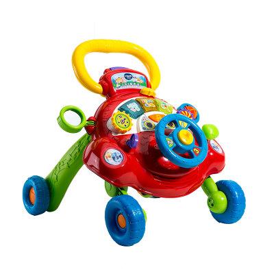 VTech伟易达电子教育玩具2合1学步车可调速多功能玩具车手推车宝宝早教玩具6-24个月