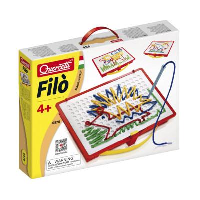 意大利进口 启迪quercetti 巧手绣画板 儿童手工编织穿线制作益智玩具