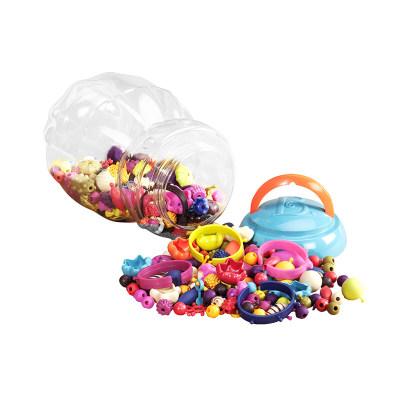 北美 B.toys/比乐 波普串串珠无绳女孩diy手工制作项链手链儿童穿珠子套装玩具