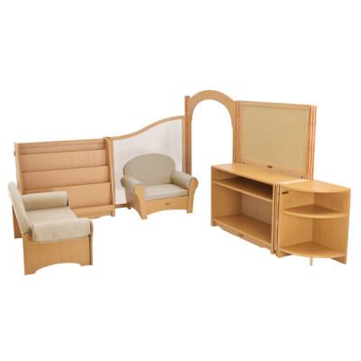 Kohburg/科宝 文学角 两组沙发 书柜角柜储物柜 围挡拱门组合 儿童家具