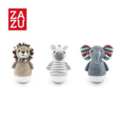 荷兰 zazu 儿童夜灯安抚不倒翁多色灯光调节usb数据线充电动物毛绒布套