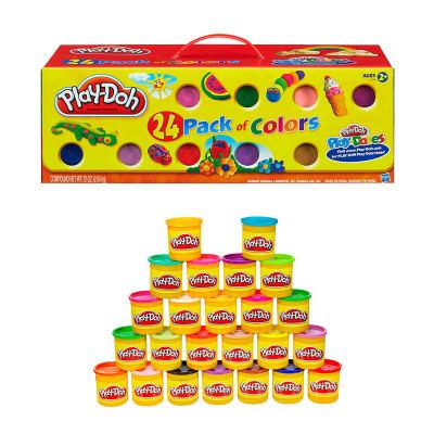 培乐多彩泥彩色橡皮泥模具工具套装粘土24色罐装儿童手工制作玩具