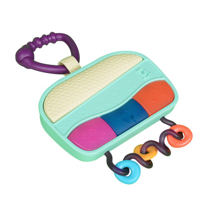 北美 B.Toys/比乐 儿童收音机 早教音乐盒玩具婴幼儿咬胶摇铃挂件