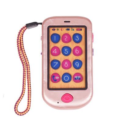 北美 B.Toys/比乐 儿童感统玩具玫瑰金手机 早教机宝宝音乐录音仿真电话机