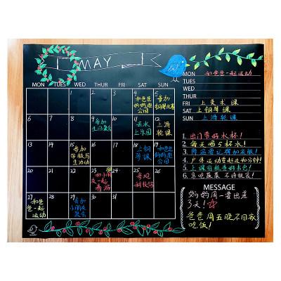 美国 Jaq Jaq Bird 儿童日历墙贴儿童房自粘墙贴黑板墙可擦写防水