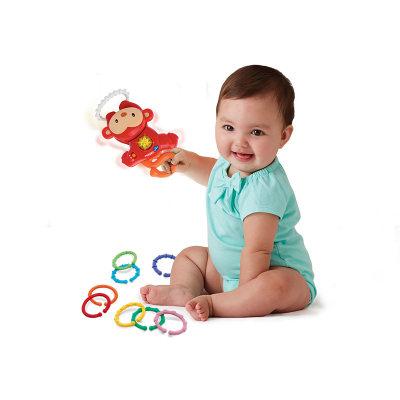 VTech伟易达电子教育玩具宝宝音乐手摇铃玩具小猴彩虹套环车床挂婴儿玩具6-24个月