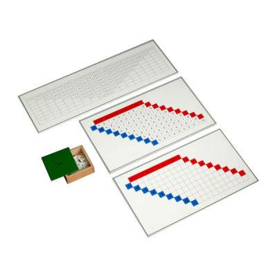 美国 MontessoriOutlet/蒙特梭利 数学区 减法板/减法方程式练习套装/减法练习表 儿童教具