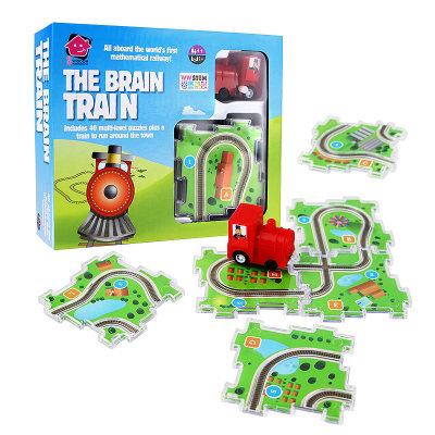 智库 儿童益智拼装玩具3-6周岁智力游戏立体数学拼图轨道小火车