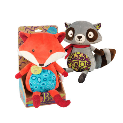 美国 B.Toys/比乐会说话的狐狸可爱毛绒玩偶公仔 智能安抚益智玩具