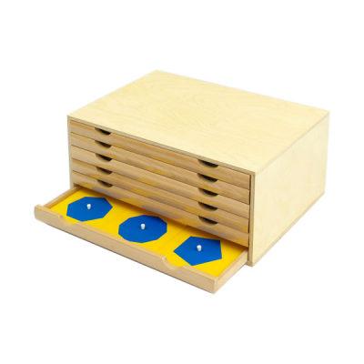 美国 MontessoriOutlet/蒙特梭利 数学区 几何图形柜/几何图形柜配套卡片